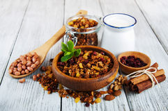 Homemade granola Stock Photography