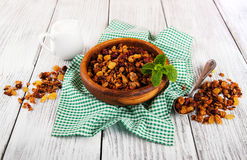 Homemade granola Royalty Free Stock Photos
