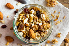 Homemade granola with nuts Royalty Free Stock Photography