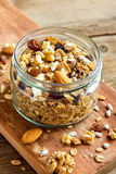 Homemade granola with nuts Royalty Free Stock Photos
