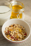 Homemade granola with oat flakes, honey Royalty Free Stock Image