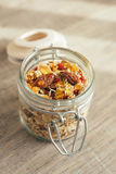 Homemade granola with oat flakes, honey Royalty Free Stock Photography