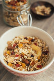Homemade granola with oat flakes, honey Royalty Free Stock Images