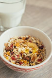 Homemade granola with oat flakes, honey Stock Photography