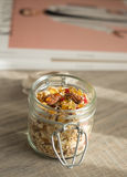 Homemade granola with oat flakes, honey Stock Images