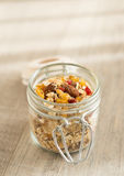 Homemade granola with oat flakes, honey Stock Image