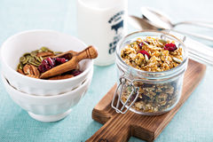 Homemade granola with quinoa and cranberry Royalty Free Stock Photography