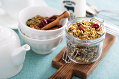 Homemade granola with quinoa and cranberry Royalty Free Stock Photo