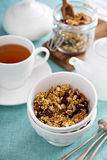 Homemade granola with quinoa and cranberry Royalty Free Stock Images