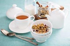 Homemade granola with quinoa and cranberry Stock Image
