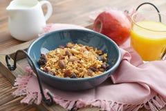 Homemade granola with raisins Royalty Free Stock Photography