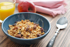 Homemade granola with raisins Stock Image
