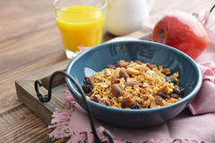 Homemade granola with raisins Stock Photography