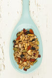 Homemade granola in spoon Royalty Free Stock Photography