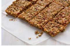 Homemade granola squares in natural light Stock Image
