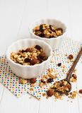 Homemade granola on a table royalty free stock photo