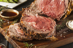 Homemade Grass Fed Prime Rib Roast Royalty Free Stock Images