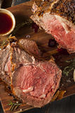 Homemade Grass Fed Prime Rib Roast Stock Photos