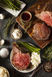 Homemade Grass Fed Prime Rib Roast Royalty Free Stock Photos