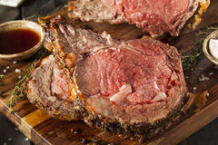 Homemade Grass Fed Prime Rib Roast Stock Images