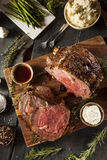 Homemade Grass Fed Prime Rib Roast Stock Photography