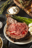 Homemade Grass Fed Prime Rib Roast Royalty Free Stock Image