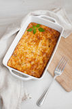Homemade gratin casserole with eggs and cheese Stock Images