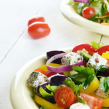 Homemade greek salad Stock Images