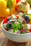 Homemade greek salad Stock Photos