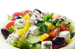 Homemade greek salad Royalty Free Stock Image