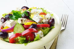 Homemade greek salad Stock Photo