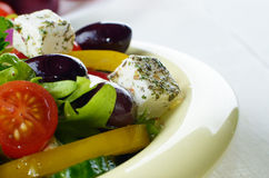 Homemade greek salad Royalty Free Stock Photos