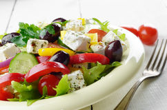 Homemade greek salad Royalty Free Stock Photography