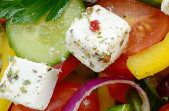 Homemade greek salad Stock Photography