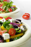 Homemade greek salad Royalty Free Stock Images