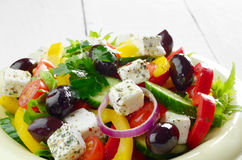 Homemade greek salad Stock Image