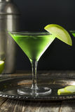 Homemade Green Alcoholic Appletini Cocktail Royalty Free Stock Photo