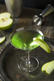 Homemade Green Alcoholic Appletini Cocktail Royalty Free Stock Image