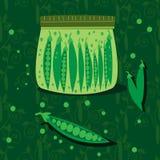 Homemade green peas Royalty Free Stock Image