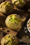 Homemade Green Pistachio Muffins Royalty Free Stock Photos