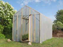 Homemade greenhouse Stock Image