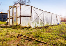 Homemade Greenhouse Stock Photography