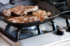 Homemade grill steak Royalty Free Stock Photography