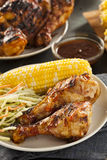 Homemade Grilled Barbecue Chicken Royalty Free Stock Photo