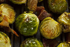 Homemade Grilled Brussel Sprouts Stock Images