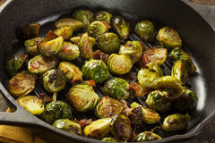 Homemade Grilled Brussel Sprouts Royalty Free Stock Photos