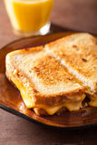 Homemade grilled cheese sandwich for breakfast Royalty Free Stock Image