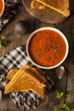 Homemade Grilled Cheese with Tomato Soup Stock Image