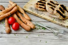 Homemade grilled Meatballs royalty free stock image
