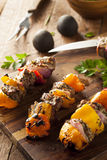 Homemade Grilled Steak and Veggie Shish Kebabs Royalty Free Stock Photo
